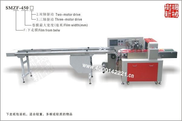 SMZF-450 枕式万博manbetx官网主页下走膜(适合多跟铁管包装,或多跟食品的包装如火腿肠的包装等)